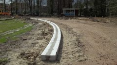 Concrete dished channel
